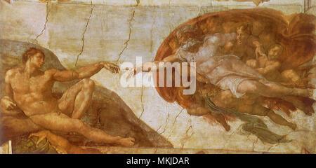 Creation of Adam - Stock Photo