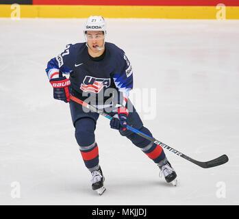 Ice Hockey World Cup 2018, Herning, May 07, 2018 Anders LEE, USA 27  action GERMANY - USA  0-3 IIHF Icehockey World Championships 2018 DEB , in Herning, Denmark May 07, 2018 © Peter Schatz / Alamy Live News - Stock Photo
