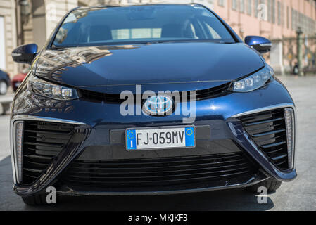 May 8, 2018 - Turin, Italy-May 8, 2018: test drive of the Mirai Toyota hydrogen car (Credit Image: © Stefano Guidi via ZUMA Wire) - Stock Photo