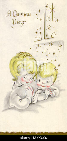 Two Kids Praying - Stock Photo