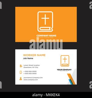 Bible business card design template visiting for your company bible business card design template visiting for your company modern horizontal identity card vector reheart Images