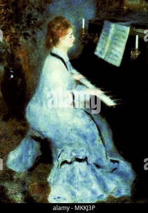 Woman at the Piano - Stock Photo
