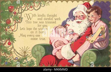 Santa with Children - Stock Photo