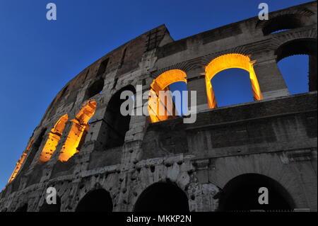 Colosseum, Rome, Amphitheatre, Lazio, Italy, Europa |Kolosseum, Amphitheater, Rom, Lazio, Italien, Europa Stock Photo