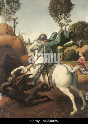 St. George and the Dragon 1505 - Stock Photo