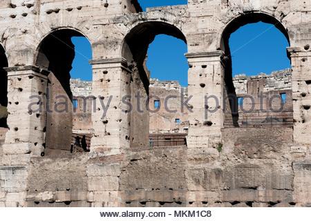 detail of wall of colosseum, Rome, Lazio, Italy, Europe / Rome | Detail der Au§enwand, Kolosseum, Rom Latium, Italien, Europa / Rom - Stock Photo