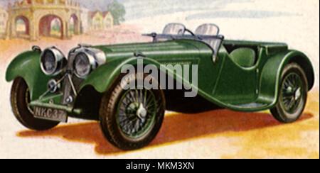 1937 Jaguar S.S.100 - Stock Photo