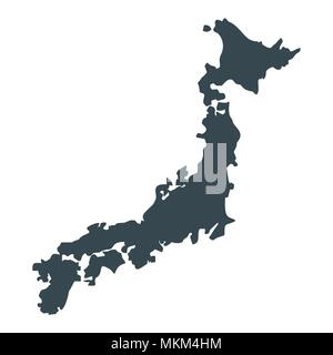 japan map icon - Stock Photo