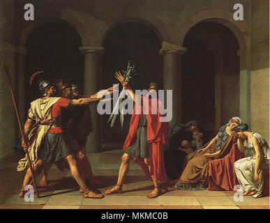 Oath of the Horatii 1784 - Stock Photo