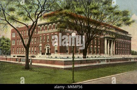 Masonic Memorial Hospital. Utica. - Stock Photo