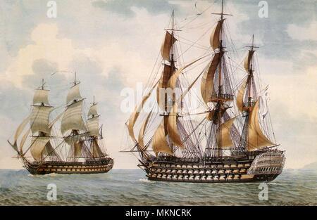 The French Ship-of-the-Line Commerce de Paris - Stock Photo