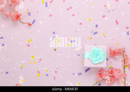 Happy Anniversary Card Pink Orchid And Cup Coffee Stock Alamy