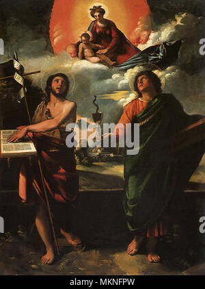 Madonna in Glory with Saints - Stock Photo