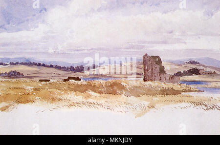 Carrigafoyle Castle, Co. Kerry - Stock Photo