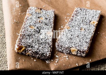 Turkish Dessert Cezerye with walnut, coconut powder. organic food.