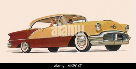 1956 Oldsmobile Super 88 Holiday Sedan - Stock Photo