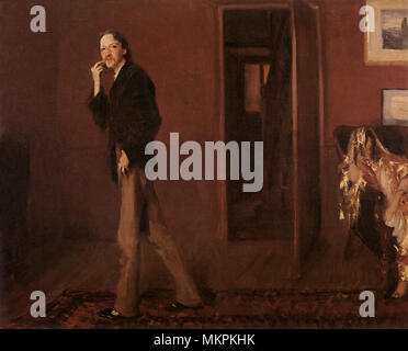 Robert Louis Stevenson and His Wife - Stock Photo