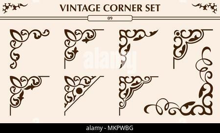Vintage corner set - Stock Photo