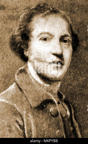 Sir Joshua Reynolds as a young man -  From a self portrait - Stock Photo