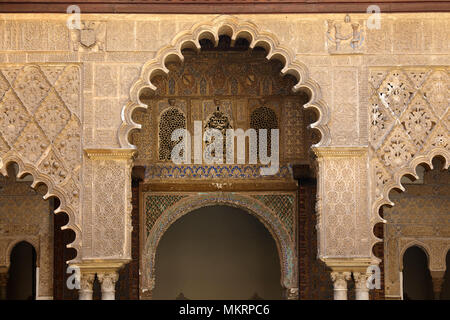 Alcázar of Seville, Andalusia, Spain - Stock Photo
