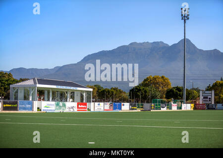 Cape Town, South Africa, March 7 - 2018: Hockey field with artificial grass playing surface. - Stock Photo