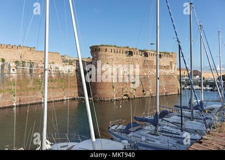 Europe Italy Tuscany Livorno Fortezza Vecchia 16 - Stock Photo