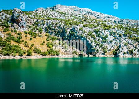 Gorg Blau, artifical lake, water supply mallorca - Stock Photo