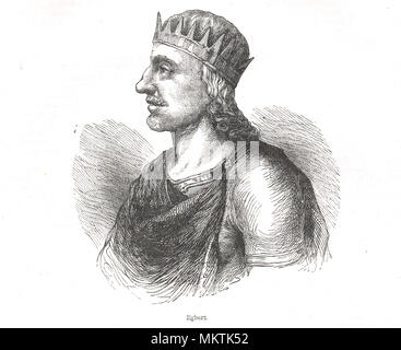 Egbert, or Ecgberht, King of Wessex who ruled from 802-839.  (Also spelt Ecgbert or Ecgbriht) - Stock Photo
