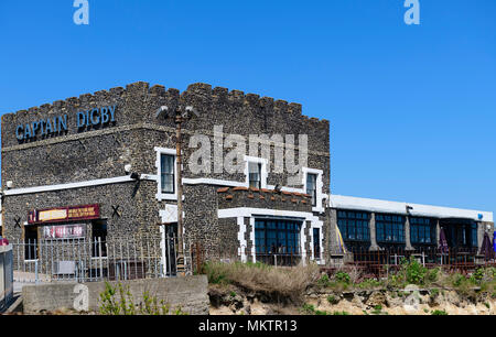 The Captain Digby, a family friendly pub overlooking kingsgate bay, Kent UK - Stock Photo