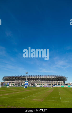 Exterior view of Murrayfield Rugby Stadium Edinburgh Scotland - Stock Photo