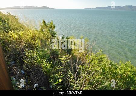Rubbish near a lookout at Jezzine barracks, Kissing point fort, Townsville Queensland, Australia - Stock Photo