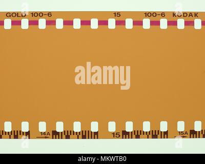 NEW YORK, USA - CIRCA APRIL 2018: blank Kodak Gold colour film - Stock Photo