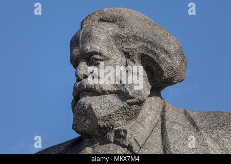 Monument to Karl Marx at the Theater Square in the center of Moscow, Russia - Stock Photo