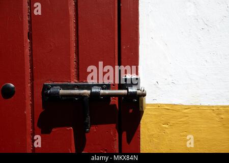 The entrance gate to the bullring of Plaza de toros, Seville, Spain - Stock Photo
