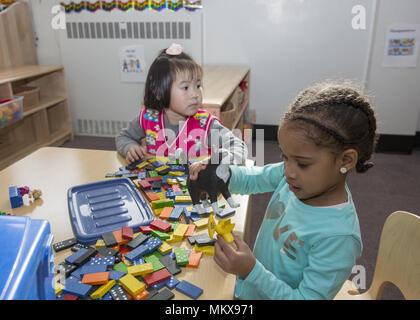 Lower East Side multi ethnic nursery school in Manhattan, New York City. - Stock Photo