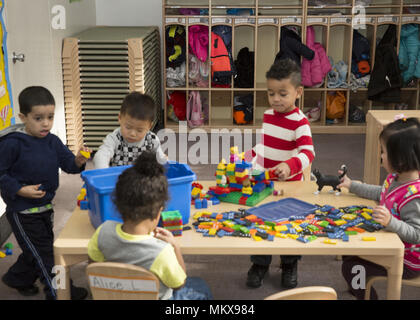 Lower East Side multi ethnic nursery school in Manhattan, New York City. - Stock Photo