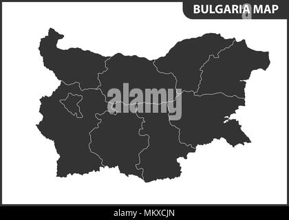 The detailed map of Bulgaria with regions or states. Administrative division - Stock Photo