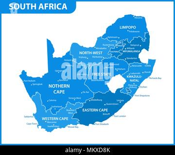 Mpumalanga South Africa map with national flag illustration Stock