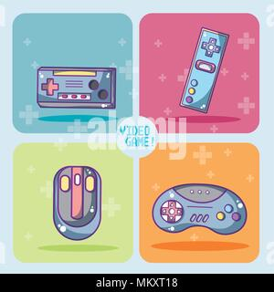 Set of videogames icons - Stock Photo