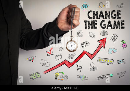 Change the game. Business concept - Stock Photo