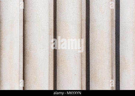 Detail of fluting running vertically on a classical style column - Stock Photo