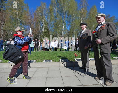 Ivanovo, Russia. 09th May, 2018. IVANOVO, RUSSIA - MAY 9, 2018: WWII veterans attend events marking the 73rd anniversary of the victory over Nazi Germany in the Great Patriotic War of 1941-1945, the Eastern Front of World War II. Vladimir Smirnov/TASS Credit: ITAR-TASS News Agency/Alamy Live News - Stock Photo