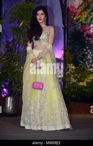 Mumbai, India. 8th May, 2018. Shanaya Kapoor attend the wedding reception of actress Sonam Kapoor and Anand Ahuja at hotel Leela in Mumbai. Credit: Azhar Khan/SOPA Images/ZUMA Wire/Alamy Live News - Stock Photo