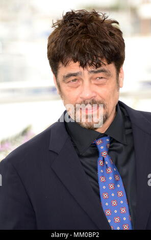 May 9, 2018 - Cannes, France - CANNES, FRANCE - MAY 09: Un Certain Regard president Benicio Del Toro attends the Jury Un Certain Regard photocall during the 71st annual Cannes Film Festival at Palais des Festivals on May 9, 2018 in Cannes, France. (Credit Image: © Frederick Injimbert via ZUMA Wire) - Stock Photo