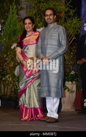Politician Uddhav Thackeray With Wife Rashmi Thackeray Attend The