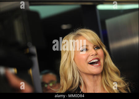 NEW YORK, NY - MAY 08: Christie Brinkley attends the New York premiere after party for 'Always At The Carlyle' at The Carlyle on May 8, 2018 in New York City   People:  Christie Brinkley - Stock Photo