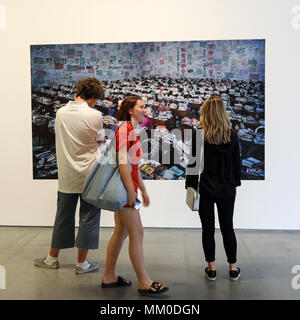 Cracow, Poland - May 8, 2018: Exibition Motherland in Art at Mocak in Krakow. Wang Quinsong - Follow me Credit: Wieslaw Jarek/Alamy Live News - Stock Photo