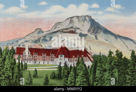 Timberline Lodge & Mt. Hood. Government Camp. 1935 - Stock Photo