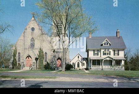 Grace Episcopal Church. Old Saybrook. 1967 - Stock Photo