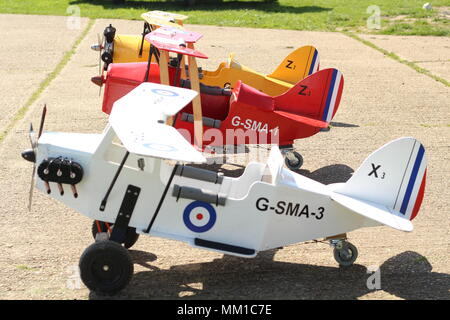 Children's Model Aircraft for recreational purposes, at Stow Maries Great War Aerodrome, Purleigh, Essex, Britain. - Stock Photo